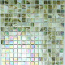 Mosaico de vidro Iridium verde