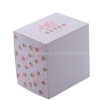 Factory best selling paper gift box with clear pvc window 13.5x13.5x10.2cm
