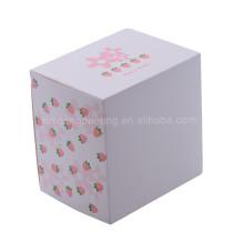 Завод лучшие продажи бумажная коробка подарка с ясным окном PVC 13.5x13.5х10.2см