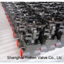 Válvula de compuerta de cuña sólida acero forjado