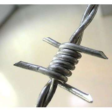Barbed Wire 25ft Roll, 18 Gauge 4 Points
