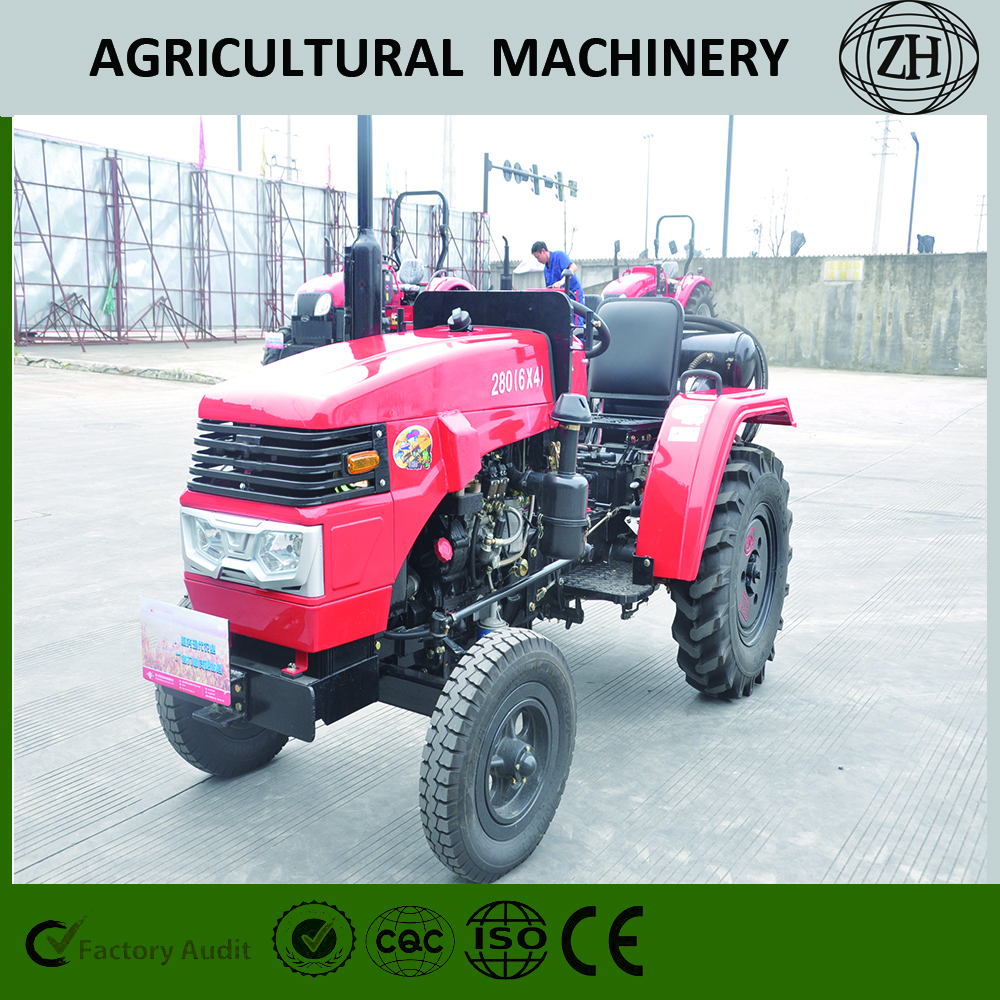 High Precision 4 Wheel Drive Mini Wheeled Farming Tractors