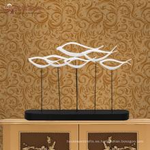 Nuevos productos artesanías interiores de decoración casera resina abstracta escultura de peces