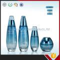 Frascos de vidro de creme extravagante Frascos de vidro azul para embalagem de cosméticos