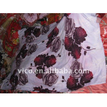 100%polyester brushed printed fabrics