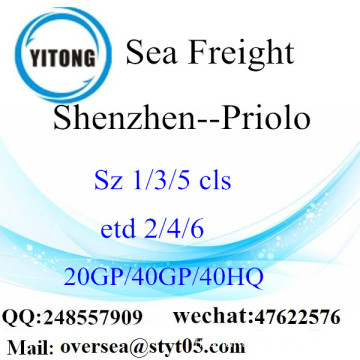 Shenzhen Port Sea Freight Shipping To Priolo