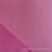 Tissu en satin de polyester en mousse de polyester