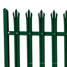 Steel Aluminium Fence / Wrought Iron Palisade Fence
