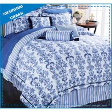 Chinesische Muster gedruckt Polyester Duvet Abdeckung Bettwäsche Set