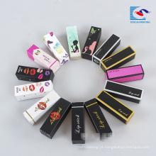 caixas coloridas do batom do empacotamento cosmético do papel colorido feito sob encomenda
