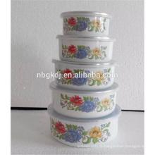 Matériel émaillé de porcelaine et bol de mélange de glace de certification de GV