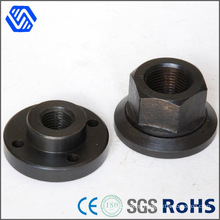 Hex Head Flange Nut Black Anodised Titanium Weld Nut