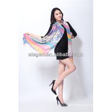 Impresión colorida toda la bufanda / el mantón de marzo