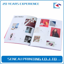 Pretty model Offset Printing Type and UV Surface Finishing printing magazine cheap perfect binding softcover