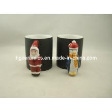 Tasse de poignée de père Noël, tasse de changement de couleur