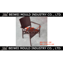 Plastic Arm Chair with Rattan Design Injection Mould