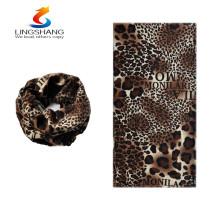 Nuevos productos calientes para 2016 lingshang cachemira al aire libre deporte leopardo impreso personalizado impresión bandanas al por mayor baratos