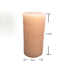 Handmade Carved 6 Inch Tall Unscented Pillar Candles