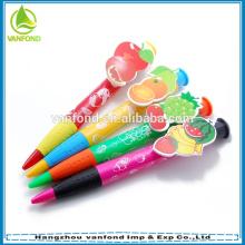 Maior caneta clip promocional personalizada para alimentação escolar e de escritório