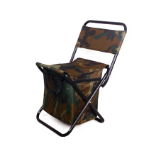 Durable high performance backrest beach folding camping chair portable garden chair with cooler bag
