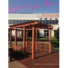 Park Patio High End Calidad Compuesto de madera Pavilion PE WPC Pérgolas