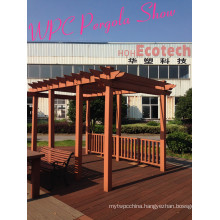 Park Patio High End Quality Wood Composite Pavilion PE WPC Pergolas