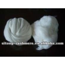 Tops de fibra de caxemira branco puro