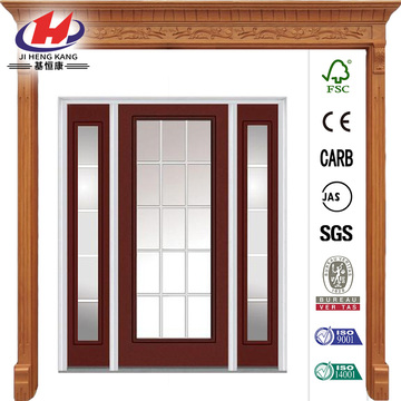 Full Lite Painted Steel Prehung Front Door
