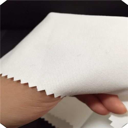 100% Cotton Bleached White Twill Woven Fabric