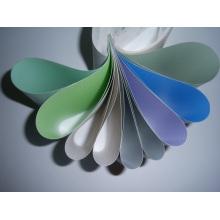 Tissu en rideau en tissu de fibre de verre revêtu de PVC coloré