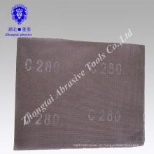 Folha de tela de lixa abrasiva impermeável de carboneto P40-320