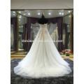 Modern Simple Elegant Plus Size Günstige Appliqued Sicke Strass Trägerlos Alibaba Tiered Chiffon Brautkleid Weiß
