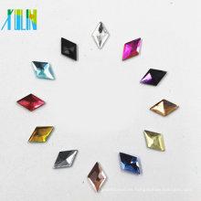 Comercio al por mayor de alta calidad de color Jet decoración de cristal de la parte posterior del teléfono de cristal piedra