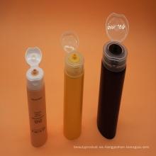 Plástico cosmético del embalaje tubo blanco para la crema del cuidado de piel con tapa Flip-Top