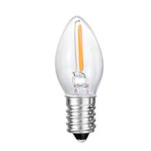 C7 Nueva bombilla de cristal sin llama de la vela LED de la cola 1W 2W 3W 4W