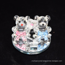 Cheap custom lovely crystal teddy bear