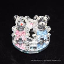 Cheap personalizado lindo urso de pelúcia de cristal