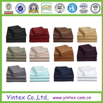 Ensembles de draps en coton égyptiens semblables à égayer