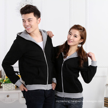 Plus velvet thick couple zipper hoodie