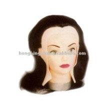 Cabeza del maniquí del cabello humano remy 100%
