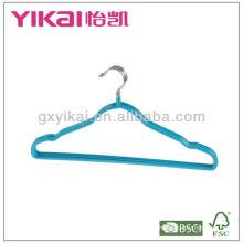 Percha de metal recubierta de PVC con muescas y barra