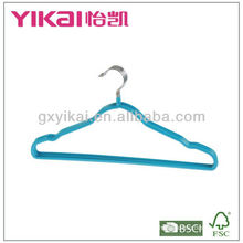 PVC coated metal hanger with notches and bar