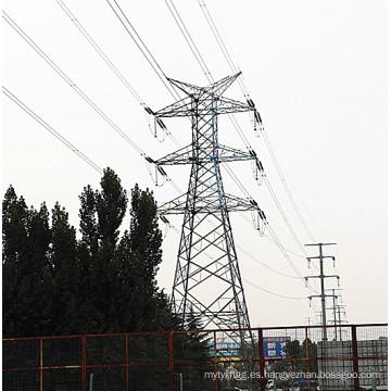 220kv Línea de transmisión de energía Anglular Torre de acero