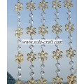 Fashion Ring Crystal Round and Flower shape wedding Beaded Curtain Chains