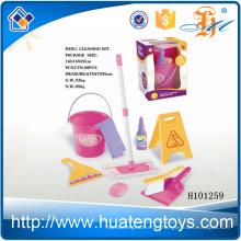 H101259 Heiße Einzelteil-glückliche Kinder behaupten Plastikspielzeug-Kindreinigungssatz auf dem Verkauf