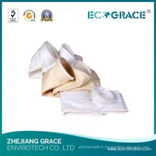 Poche de tissu de PE de collecteur de poussière de résistance pauvre d'alcalis