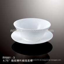 Gesunde, spezielle, haltbare, weiße Porzellan-chinesische Tassen