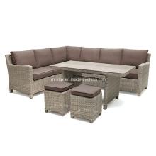 Outdoor Rattan Lounge Sofa Set Garden Wicker Patio Furniture