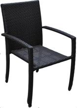 PE 籐屋外スタック高腕の椅子