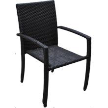 PE en osier plein air pile haute fauteuil